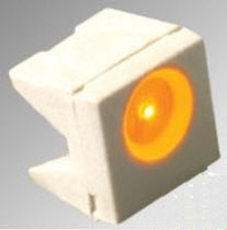 White LED / SMD / right-angle / round