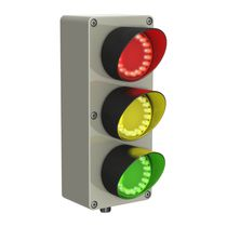 Three-color traffic light