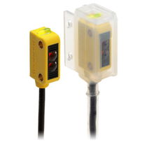 Retroreflective photoelectric sensor / rectangular / subminiature / rugged