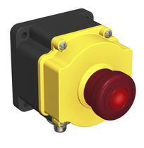 Single-pole push-button switch / illuminated / flush-mount / emergency stop