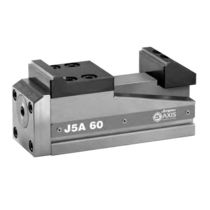 5-axis machine tool vise / hydraulic / manual / low-profile
