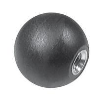 Ball knob / brass / plastic / threaded