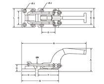 Horizontal toggle clamp / latch type