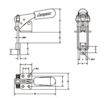 Latch type toggle clamp / vertical