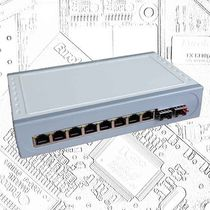 Industrial converter switch / managed / Ethernet / fiber optic