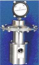 Air pressure regulator / single-stage / membrane / stainless steel