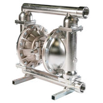 Food product pump / pneumatic / double-diaphragm / stainless steel
