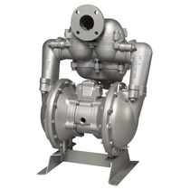 Chemical pump / pneumatic / double-diaphragm / for high-viscosity fluids