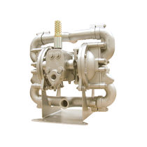 Slurry pump / pneumatic / double-diaphragm / stainless steel