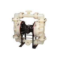 Chemical pump / pneumatic / double-diaphragm / non-metal