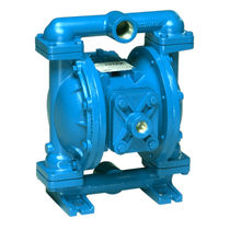 Chemical pump / pneumatic / double-diaphragm / for abrasive fluids