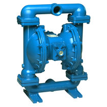 Water pump / pneumatic / double-diaphragm / for abrasive fluids
