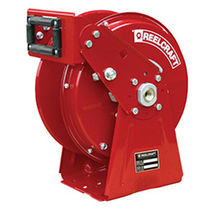 Hose reel / self-retracting / truck-mounted / dual-pedestal