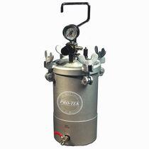 Paint tank / pressure / stainless steel / vertical