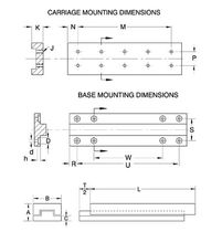 Crossed roller linear guide / aluminum