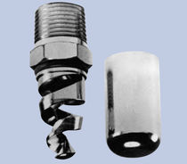 Full-cone nozzle / fire protection / male / compact