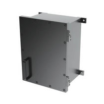 Wall-mounted electrical enclosure / stainless steel / outdoor