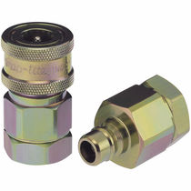 Steel quick coupling / stainless steel / brass / pneumatic