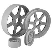 Motor pulley / flat belt / bored / variable