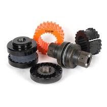 Elastomer coupling / torsionally elastic / for shafts / cast iron