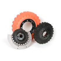 Torsionally rigid coupling / rubber / flange