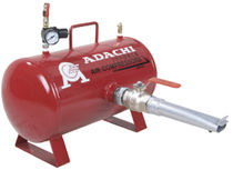 Compressed air tank / metal / storage / horizontal