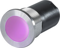 Capacitive push-button switch / multi-LED illuminated / stainless steel / rugged