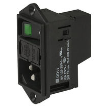 Integrated power entry module / with switch