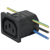 Electrical power supply connector / DIN / rectangular / snap-on