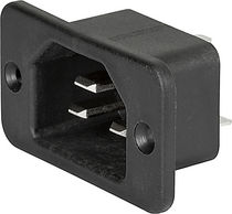Electrical power supply connector / DIN / square / screw