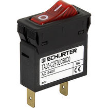 Thermal circuit breaker / single-pole / modular / rocker switch type