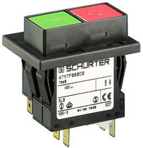 Thermal circuit breaker / single-pole / modular / push-button