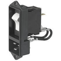 Power entry module with switch / integrated