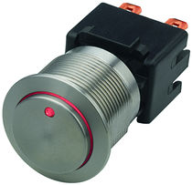 Single-pole push-button switch / stainless steel / latching action