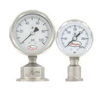 Dial pressure gauge / Bourdon tube / for hygienic applications