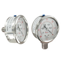 Pressure gauge / liquid-filled Bourdon tube / dial / process / stainless steel