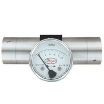 Variable-area flow meter / for oil / metal tube / in-line