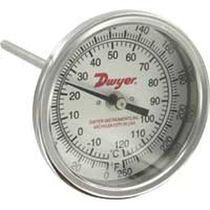 Bimetallic thermometer / insertion / dial / industrial