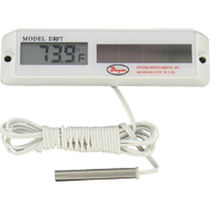 Digital thermometer / probe / surface-mount / solar