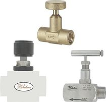 Needle valve / for liquids / manual / control