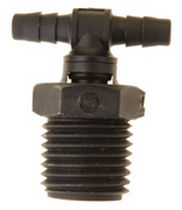 Screw-in fitting / barbed / T / hydraulic