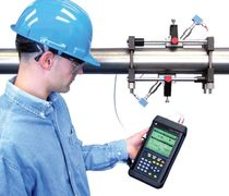 Ultrasonic flow meter / for gas / clamp-on / portable