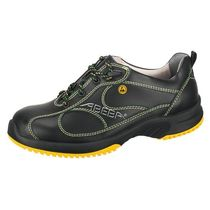 Anti-slip safety shoe / leather / athletic style