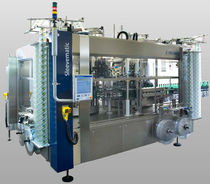 Linear labeling machine / vertical / automatic / bottle