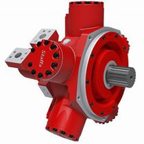 Radial piston hydraulic motor / variable-displacement / double-displacement / low-speed