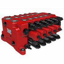 Hydraulically-operated valve / control / for oil