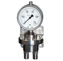 Differential-pressure pressure gauge / diaphragm / analog / industrial