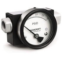 Pressure gauge / piston type / differential-pressure / analog / high-pressure
