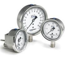 Pressure gauge / liquid-filled Bourdon tube / analog / adjustable / process