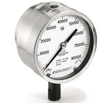 Pressure gauge / liquid-filled Bourdon tube / analog / for vacuum / robust